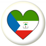 Equatorial Guinea Country Flag Heart 25mm Pin Button Badge